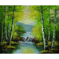Buy cheap Decorative Landscape Canvas Printing Service water base printing or eco-solvent from wholesalers