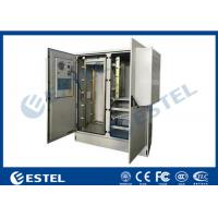 Two Bay 30U Base Station Cabinet  Integrated Temperature Control Double Layer Manufactures