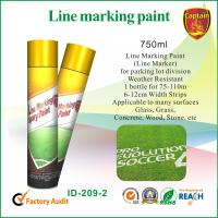 Cheap Quick Color Line spray marker paint For Concrete / Asphalt / Glass / Wood for sale