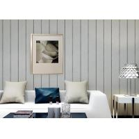 Cheap 0.53*10M / Roll Living Room Contemporary Wall Coverings With Vertical Stripes Pattern for sale