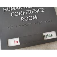 "Occupied Slider Ada Room Signage 1/4"" Acrylic Square Corner With Slider Tabs Read Manufactures"