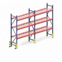 Q235 Steel Warehouse Rack System , Heavy Metal Storage Shelves Manufactures