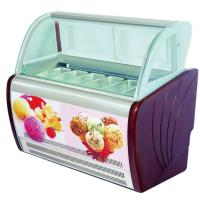Commercial Italian Ice Cream Display Freezer  With Customized Pans OEM Light Manufactures