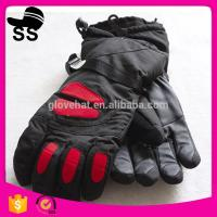 2017 fashion cheap cool Men's waterproof ski gloves hot sale factory 100%polyester 32*15.5cm 145g Manufactures