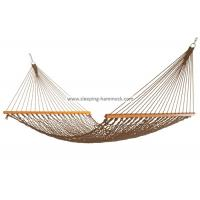 Portable Folding Outdoor Rope Hammock Double Hanging Tree Spreader Bars Antique Brown