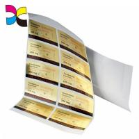Buy cheap Personalized Gel Adhesive Sticker Labels Freeze Resistant Sheet Packaging from wholesalers