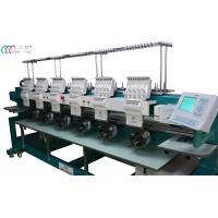 Multi-functional 6 Heads 9 Needles Embroidery Machine For Cap / Ready Made Garment / Flatbed Manufactures
