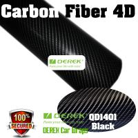 4D Glossy & Shiney Carbon Fiber Vinyl Wrapping Films--Black Manufactures
