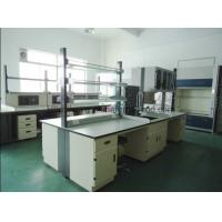 Food Industry Laboratory Working Table Steel Furniture With Reagent Rack Manufactures