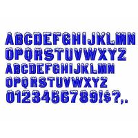 Custom Embroidery fonts Igloo Laser96 design DST Formats Manufactures