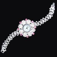 China Antique Silver Crystal Rhinestone Women Girls' Lady Alloy Quartz Adjustable Wrist Watch Fashion Brac on sale