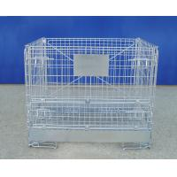 Galvanized Foldable Industrial Wire Container Stackable Space Saving Manufactures