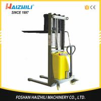 Low price material handling tools China 1000kg semi-electric stacker manufacturer