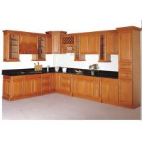 Solid Wood Contemporary Kitchen Cabinets Paint Finish Luxury Furniture Manufactures