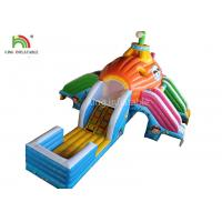 Outside Inflatable Water Slide With Water Pool For Children 14 Months Warranty Manufactures