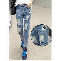 China Lady denim jean fashion skinny thickness thread jeans on sale