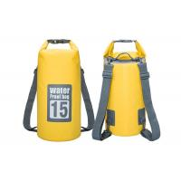 Traveling Kayak Dry Gear Bag Yellow Color 21 X 56 Cm With Handle Strap Manufactures