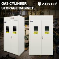 Detecor Equipped Gas Bottle Storage Cabinet Cold Rolled Steel For 3 Cylinders