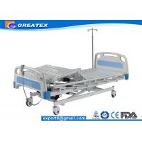Motorized Three Function Electric Hospital Bed Rental , Nursing Home Rotating hospital bed Manufactures