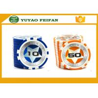 Round Customised Poker Chips Plastic Game Poker Chips With Laser Star Stickers Manufactures