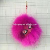 Popular handmade fur pom pom fur monster case for for mobile phone fur monster pendant Manufactures