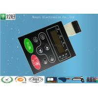 Multi LED Embossing Membrane Switch 10 Pin Female Connector 1.0mm Pitch Manufactures