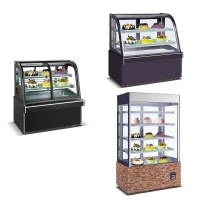 Marble Base Automatic Defrost System 60hz Cake Display Freezer Manufactures