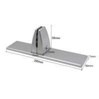 ISO9001 Partition Clip 50mm Glass Partition Clamp Manufactures