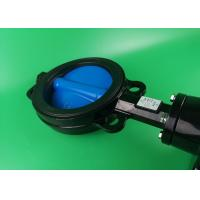 Modulatig On Off Wafer Style Butterfly Valve  DN50 DN65 DN80 Black High Torque Manufactures