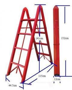 Anti Slip Aluminium 4.6ft 4 Step Folding Ladder Manufactures