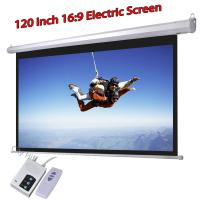 Wholesale Low Cost Electric Projector Screen 120inch HD Projection Screens 16:9 Support 3D Manufactures