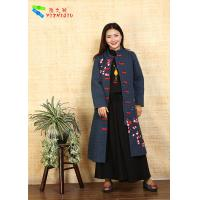 China Fashion Chinese Style Embroidered Winter Coats Comfortable With Long Sleeve on sale