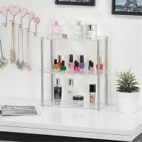 Eco - Friendly Clear Acrylic Tabletop Display Shelves / Cosmetic Store Display Manufactures