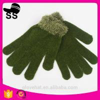 Yiwu Wholesale Online Shopping Winter Special Colorful Fleece Violet Ladies Gloves 8*20cm 37g 95%Acrylic  5%Spandex Manufactures