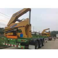 Self Loading Truck Mounted Crane 3 Axle Container For Transportation Manufactures