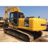 Japan Second Hand Komatsu Excavator 22 Tonnage Bucket 1m3 With Water Coolant Engine Manufactures