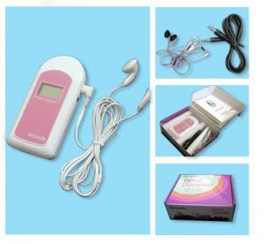 FDA Handheld Fetal Doppler Baby Sound B Heart Beat Monitor LCD/ Earphone/ GEL Unburn Baby Manufactures