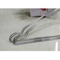 Beautiful Plastic Coated Wire Hangers , White Metal Coat Hangers For Laundry Room Manufactures