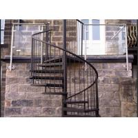 Aluminum Frame Glass Custom Spiral Staircase Flexible Small Spave Design Manufactures