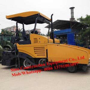 Wheel Type 12.6t 4.5m Asphalt Concrete Road Paver Machine Manufactures