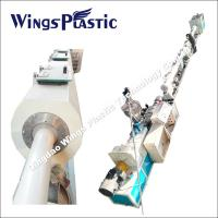 Plastic PVC Powder Materials Pipe Extrusion Line / PVC Conical Twin Screw Extruder System Manufactures
