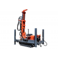 Hydraulic Crawler Mounted 200m Water Well Drilling Rig Machine Manufactures
