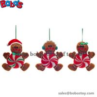 Cheapest Xmas Plush Stuffed Gingerbread Man Toy Christmas Product Manufactures