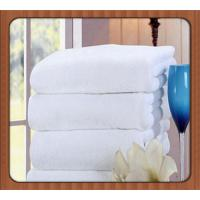 soft terry woven hotel use turkish bath towel fancy hotel towel with jacquard logo Manufactures