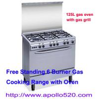 Cheap Gas Range Cooker Oven with stainless steel cooktop for sale