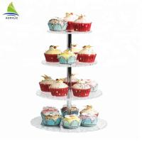 Round 4 Tier Crylic Cake Display Acrylic Dessert Display Stands For Storage Manufactures