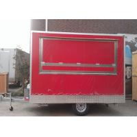 China Hamburger Fast Hot Dog Cart Food Concessions Trailers One Layer Gas Oven on sale