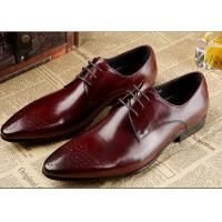 Genuine Leather Men'S Wedding Dress Shoes Formal Business Shoes With Black Stitching