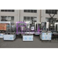 Cheap SUS304 / SUS316 Water Bottle Filling Machine , Small Scale Pure Liquid Filling Line for sale