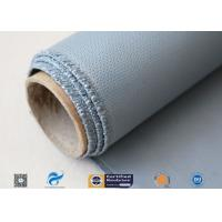 Satin Weave Silicone Coated Fiberglass Fabric 40/40g Gray Color 1m Width Manufactures